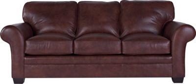 Merveilleux Zachary Leather Sofa Sleeper, Queen