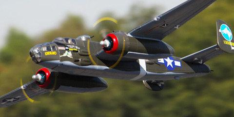 FMM025PGRN FMS B-25 Mitchell 1470mm Green PNP