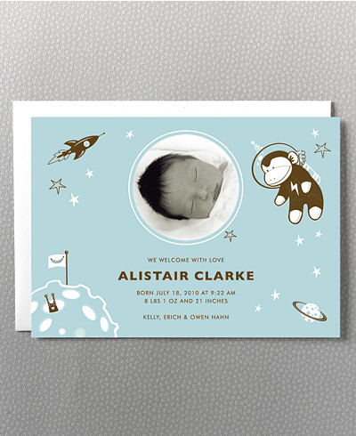 Astro Monkey Birth Announcement
