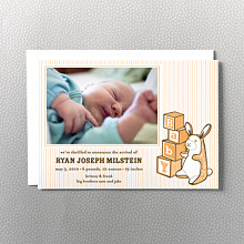 Bunny & Blocks: Birth Announcement