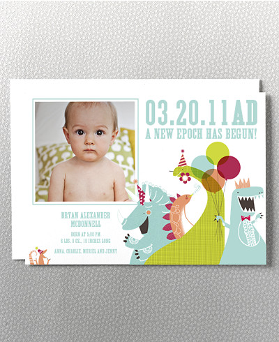 Dino Epoch Birth Announcement