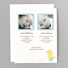 Duckie: Photo Birth Announcement