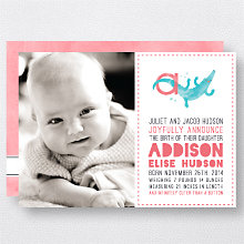 A is for Alligator (Girl): Birth Announcement