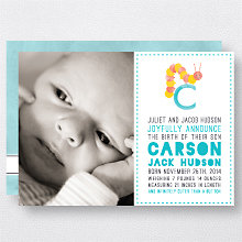 C is for Caterpillar (Boy): Birth Announcement