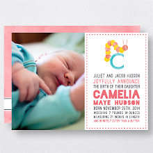 C is for Caterpillar (Girl): Birth Announcement