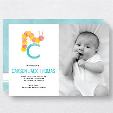 C is for Caterpillar (Modern): Birth Announcement