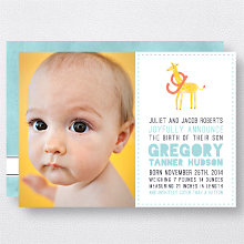 G is for Giraffe (Boy): Birth Announcement