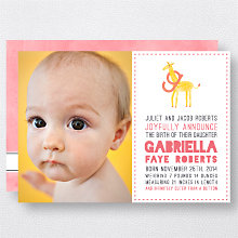 G is for Giraffe (Girl): Birth Announcement
