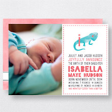 I is for Iguana (Girl): Birth Announcement