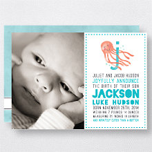 J is for Jellyfish (Boy): Birth Announcement