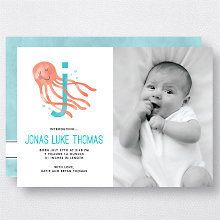 J is for Jellyfish (Modern): Birth Announcement