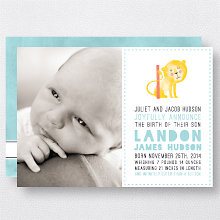 L is for Lion (Boy): Birth Announcement