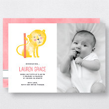 L is for Lion (Modern): Birth Announcement