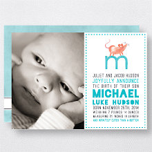 M is for Mouse (Boy): Birth Announcement