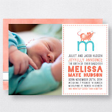 M is for Mouse (Girl): Birth Announcement