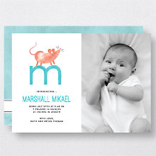 M is for Mouse (Modern): Birth Announcement