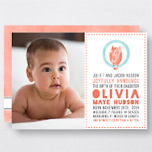 O is for Owl (Girl): Birth Announcement