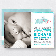 R is for Rhinoceros (Boy): Birth Announcement