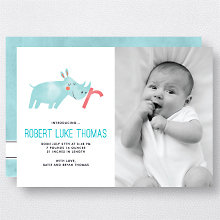R is for Rhinoceros (Modern): Birth Announcement