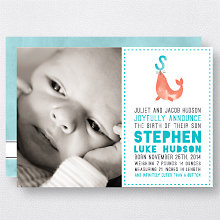 S is for Seal (Boy): Birth Announcement