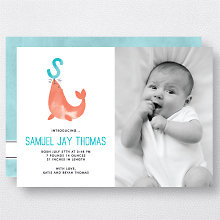 S is for Seal (Modern): Birth Announcement