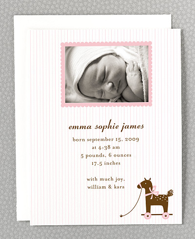 Horsie Birth Announcement