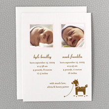 Horsie: Twin Birth Announcement