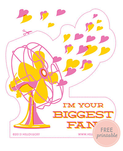 Big Fan---Free Printable Valentine's Card