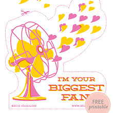 Big Fan: Free Printable Valentine\'s Card