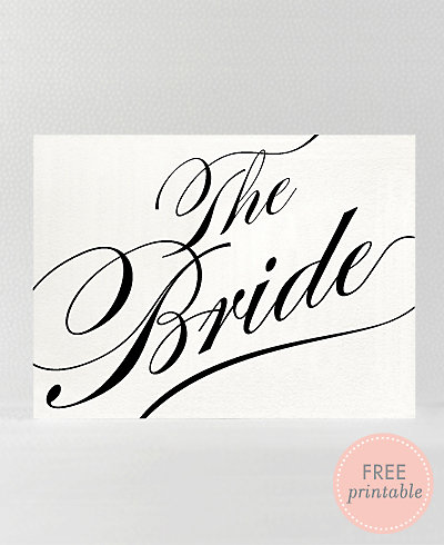 Calligraphy Bride---DIY Wedding Sign
