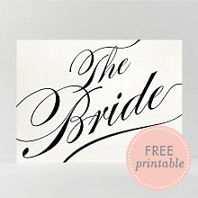 Calligraphy Bride: DIY Wedding Sign