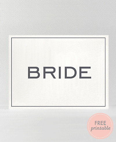 Modern Bride---DIY Wedding Sign