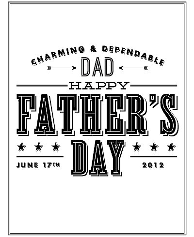 Charming Dad---Free Printable Father's Day Card