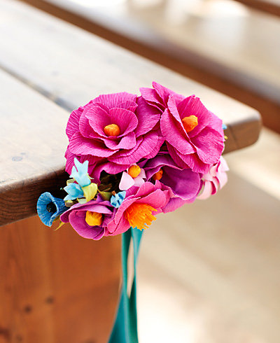 Crepe Paper Flower Aisle Marker---DIY Instructions and Template