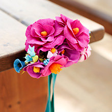 Crepe Paper Flower Aisle Marker: DIY Instructions and Template