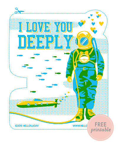 Deep Love---Free Printable Valentine's Card