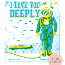 Deep Love: Free Printable Valentine\'s Card