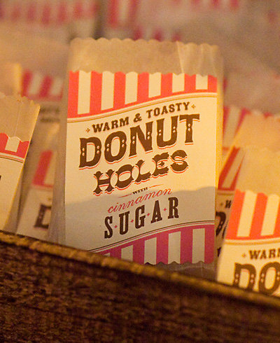 Donut Hole Bag Labels---DIY Instructions and Template