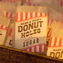 Donut Hole Bag Labels: DIY Instructions and Template