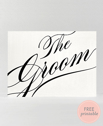 Calligraphy Groom---DIY Wedding Sign
