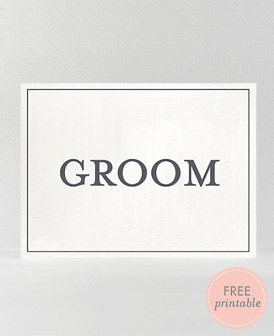 Classic Groom---DIY Wedding Sign