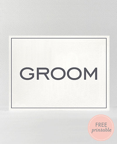 Modern Groom---DIY Wedding Sign