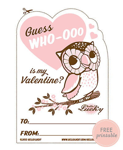 Guess Who-ooo---Free Printable Valentine's Card