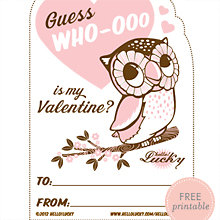 Guess Who-ooo: Free Printable Valentine\'s Card