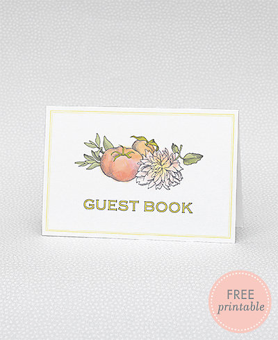 Heirloom Harvest Guestbook---DIY Wedding Sign