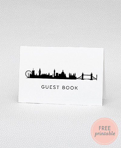 London Skyline Guestbook---DIY Wedding Sign