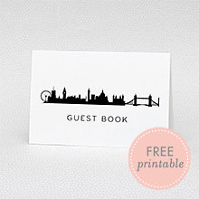 London Skyline Guestbook - DIY Wedding Sign