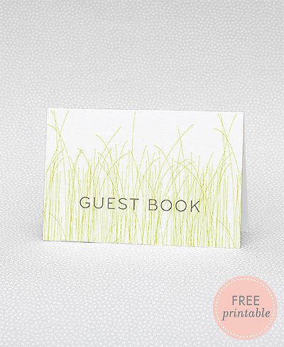 Meadow Guestbook---DIY Wedding Sign