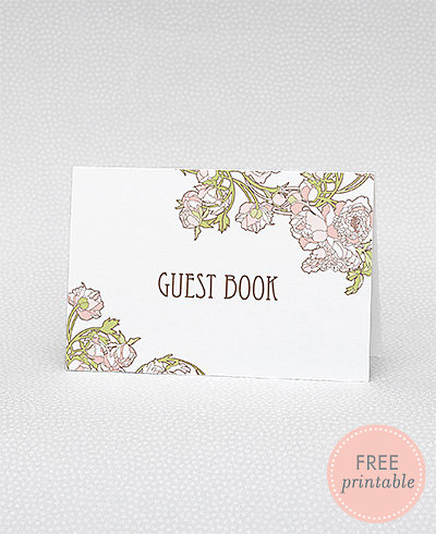 Nouveau Peonies Guestbook---DIY Wedding Sign