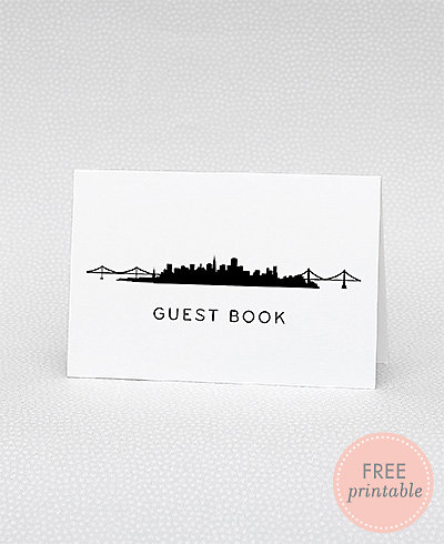 San Francisco Skyline Guestbook---DIY Wedding Sign
